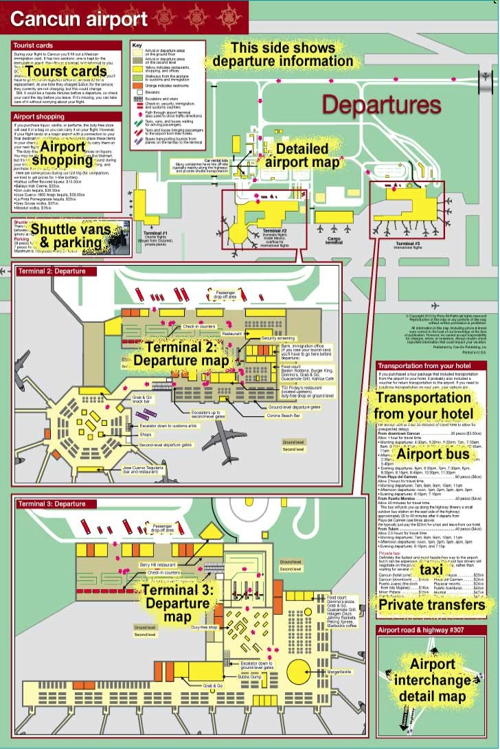 Cancunairportdepartures Mapchick S Maps Amp Travel Guides