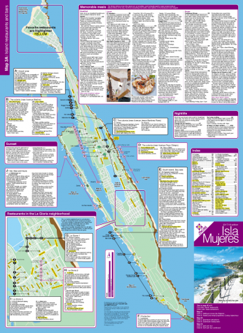 Map of restaurants Isla Mujeres