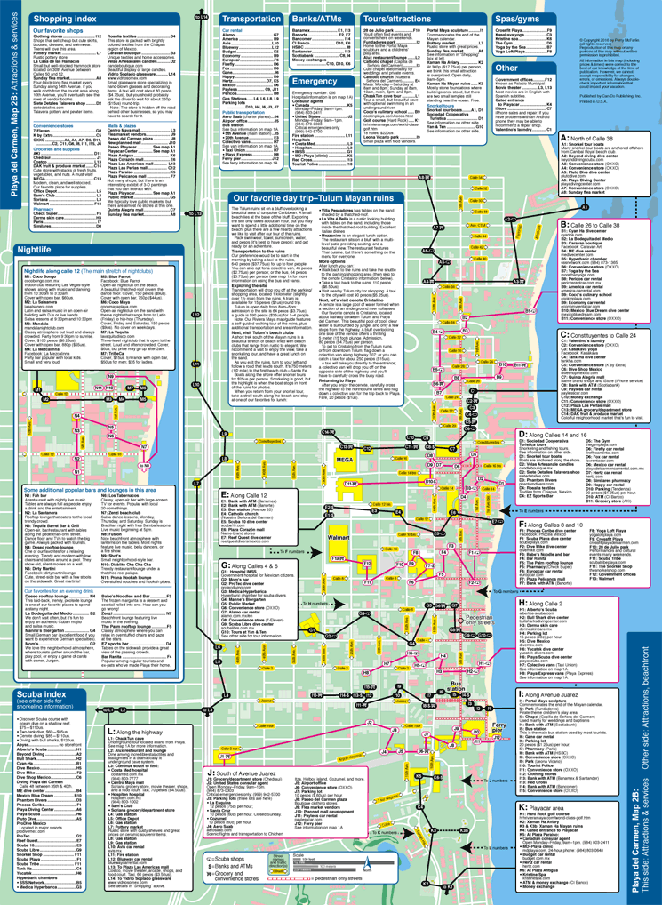 Map of Playa del Carmen services