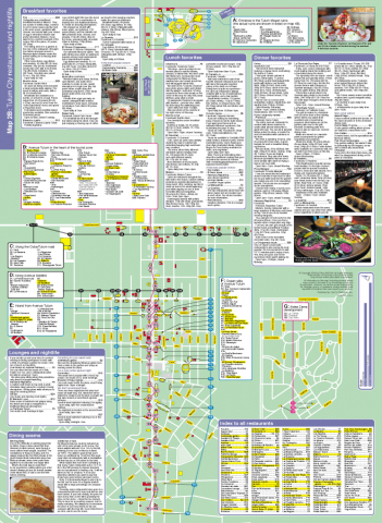 Map of Tulum city restaurants and nightlife