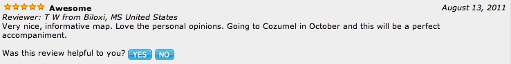 Review of Cozumel map