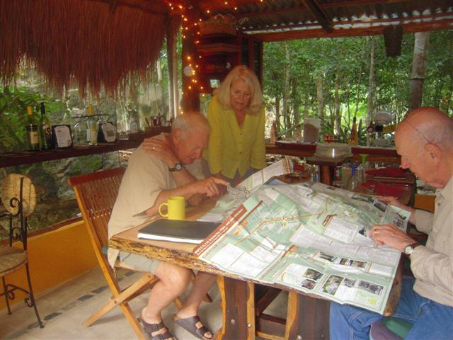 janis, bill ,Howard at LSM with maps