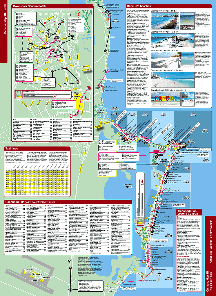 Map of Cancun hotels