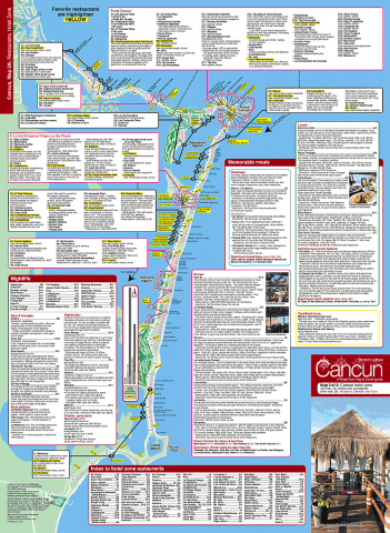 Map of Cancun restaurants