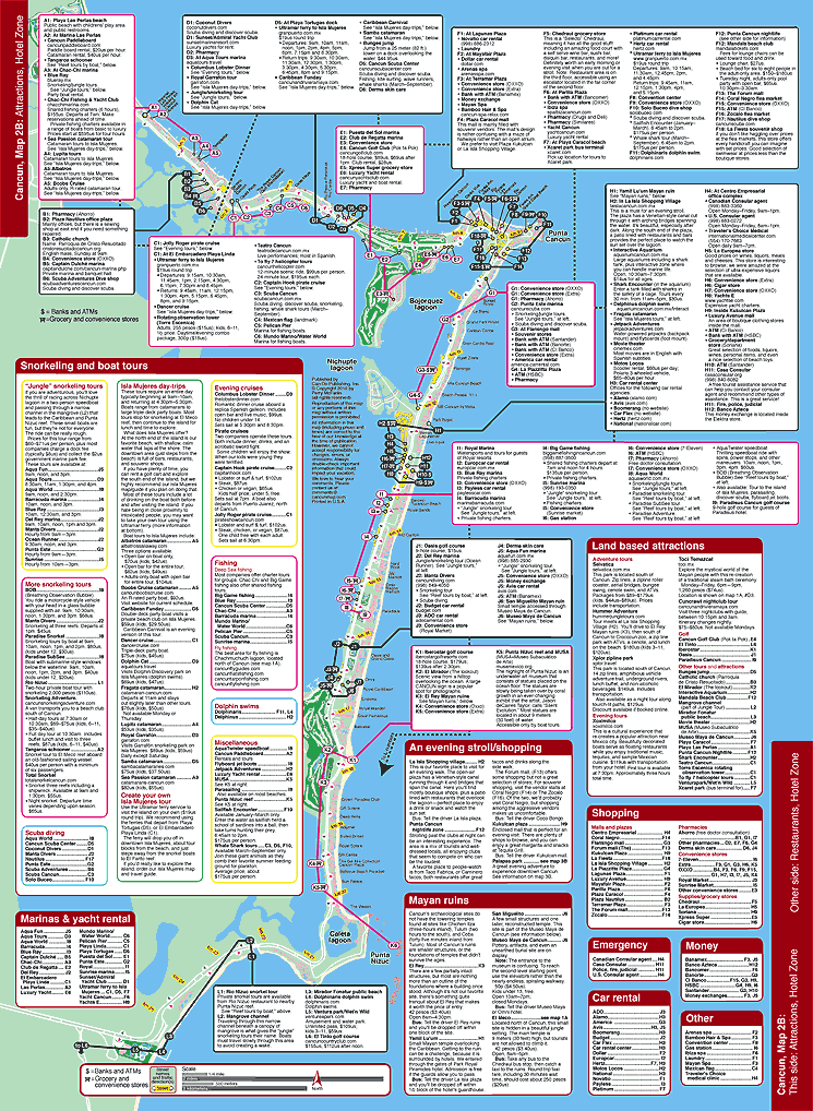 Map of Cancun attractions