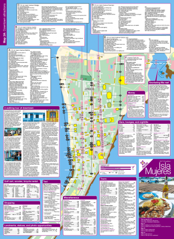 Map of downtown Isla Mujeres