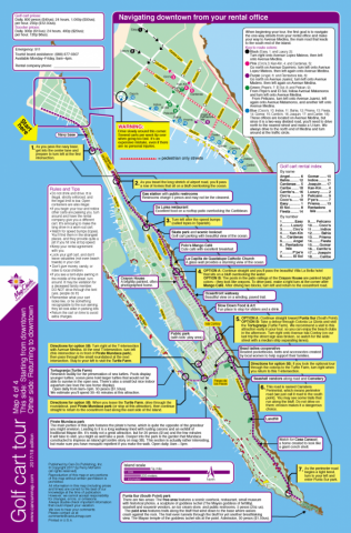Isla Mujeres golf cart tour map