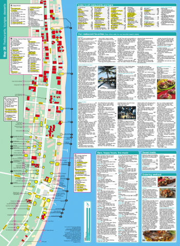Map of Puerto Morelos restaurants