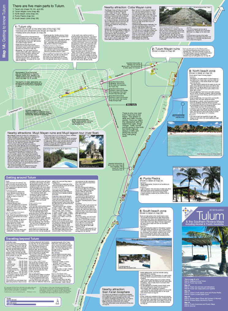 Getting to know Tulum map & guide