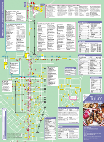 Map of Tulum city services