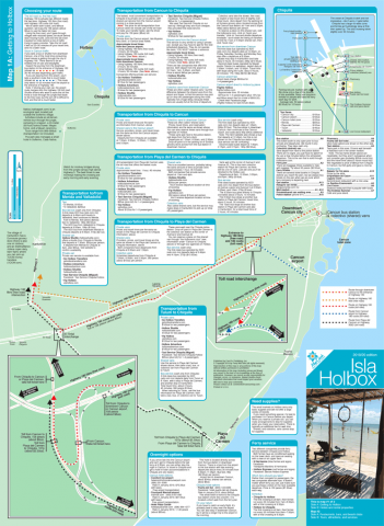Map & Travel Guide of Holbox